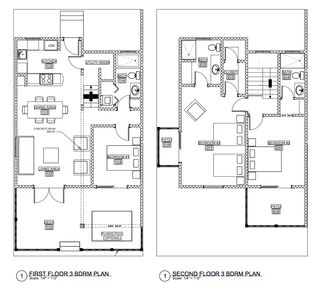 Three-Bedroom Floor Plan