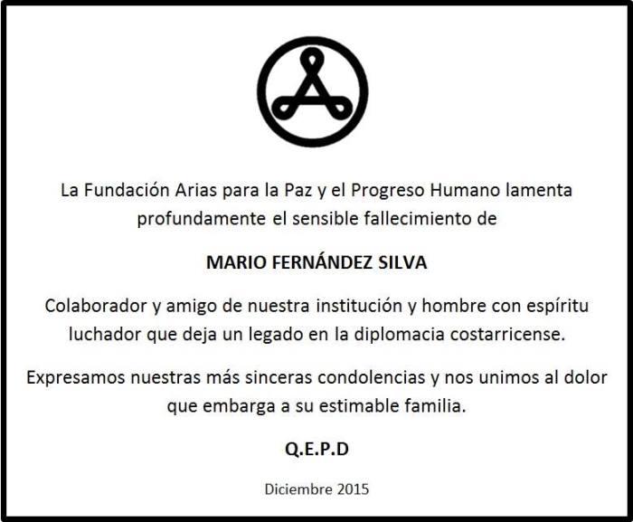 En Memoria de Mario Fernández Silva