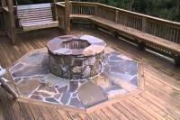 wood deck fire pit mat  Design and Ideas