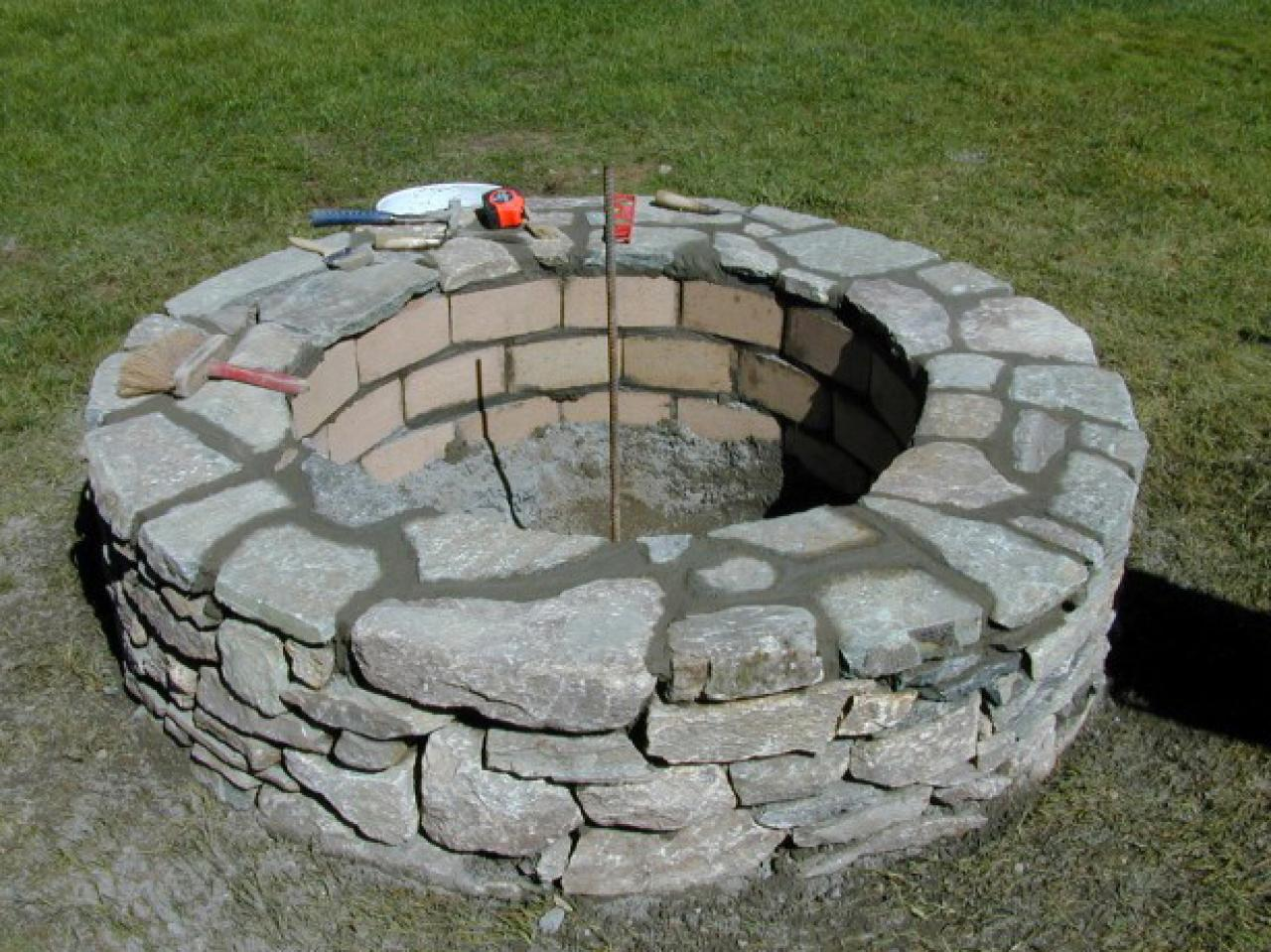 Building A Rock Fire Pit Design And Ideas