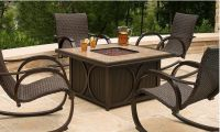 outdoor fire pit table set  Design and Ideas