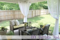 outdoor patio curtains rods  Design and Ideas