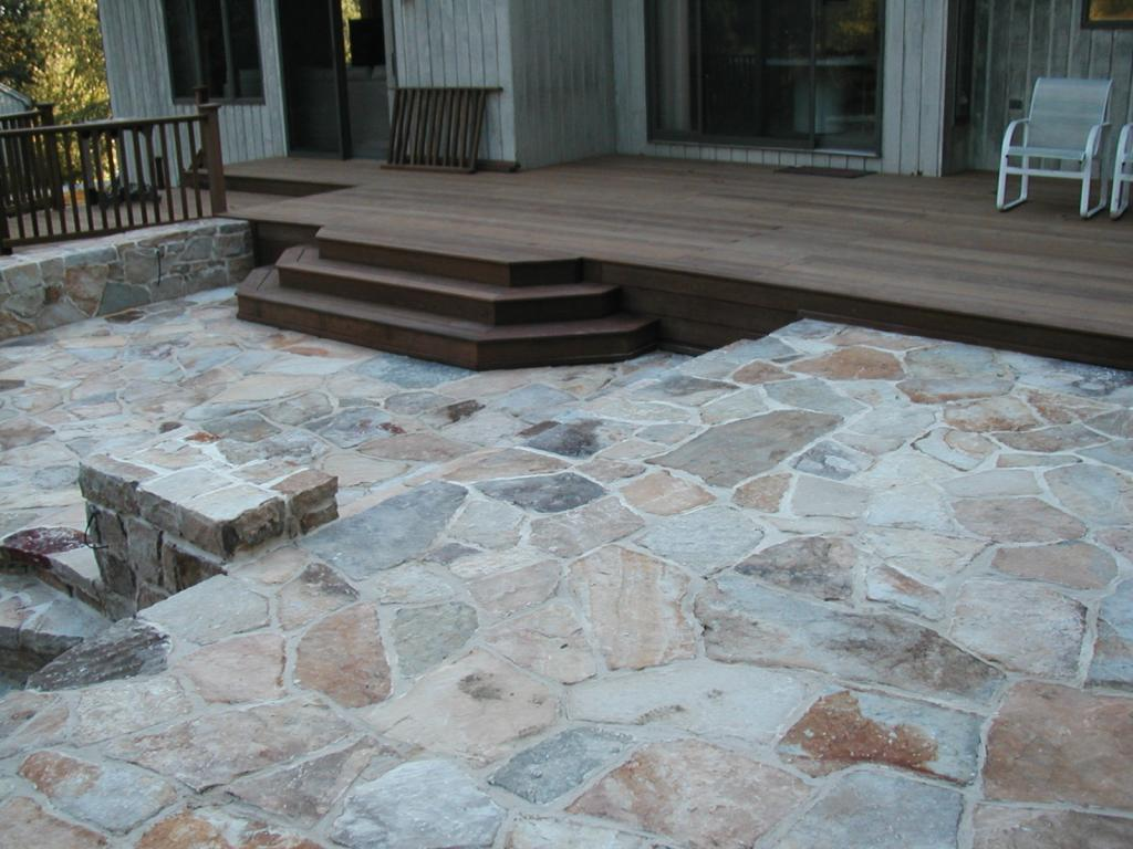 Blue Stone Patio Grout Design And Ideas