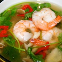 Spicy and Sour Prawn Soup Recipe