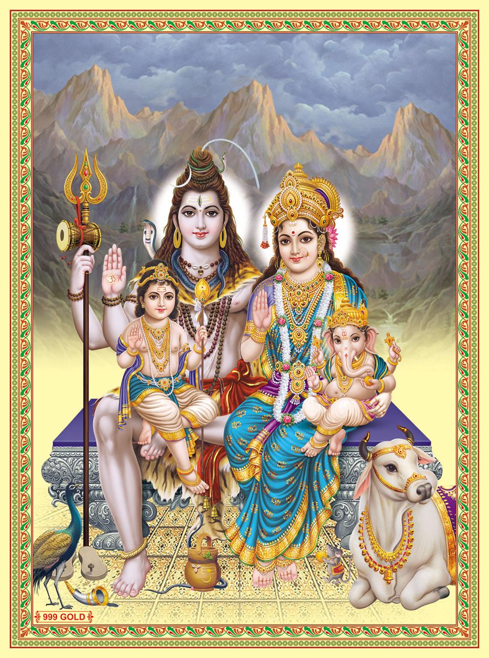 Lord Shiva Black Hd Wallpapers Download Shiv Parivar Wallpaper Free Download Gallery