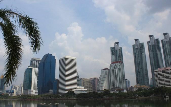 Skyscrapers near Sukhumvit in Bangkok, Thailand.