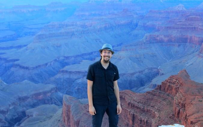 Full-time traveller Arimo Koo enjoying sunset at Grand Canyon.