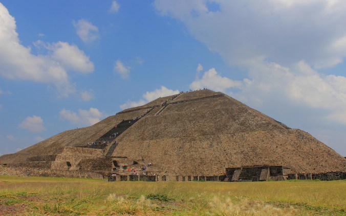 The Pyramid of the Sun in Teotihuacan.