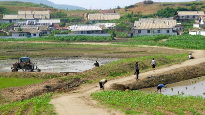 North Korea (DPR Korea) countryside.