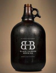 San Francisco brewery Black Hammer logo and branding design