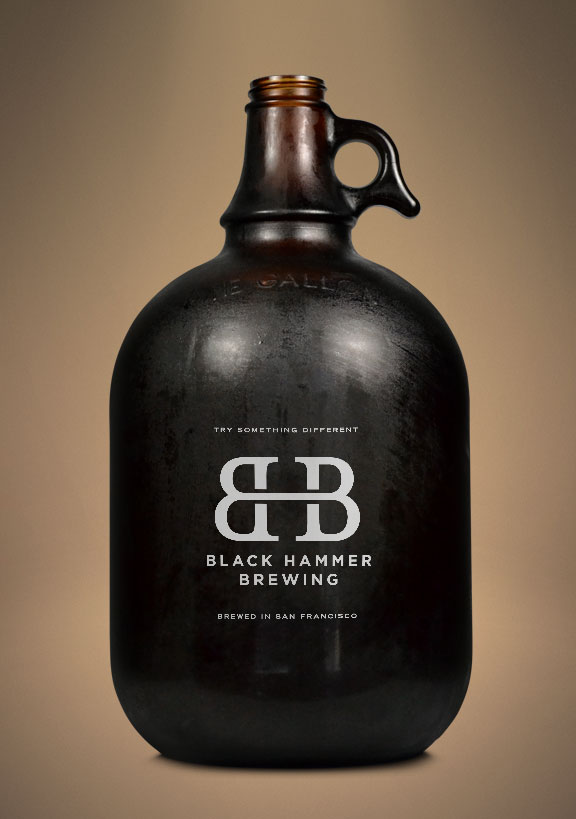 San Francisco brewery Black Hammer logo and branding design
