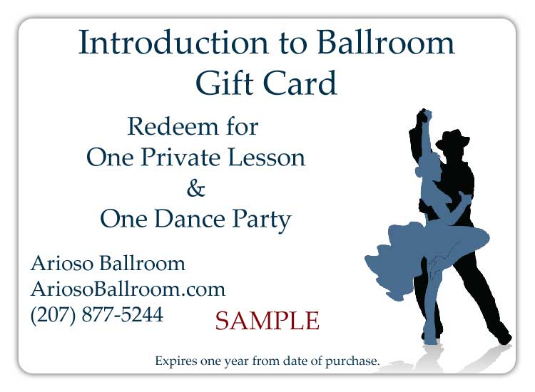 Introduction to Ballroom Gift Card