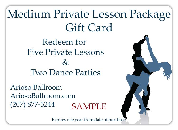 Medium Private Lesson Package Gift Card