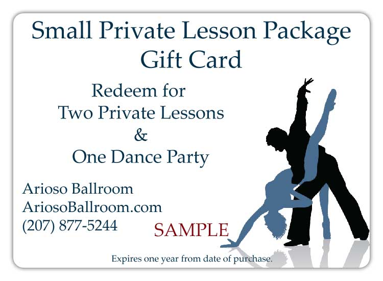 Small Private Lesson Package Gift Card