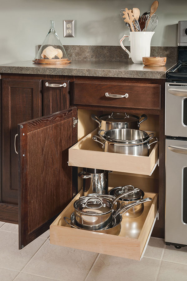 Garage Storage Ideas Base Roll Tray Cabinet - Aristokraft Cabinetry