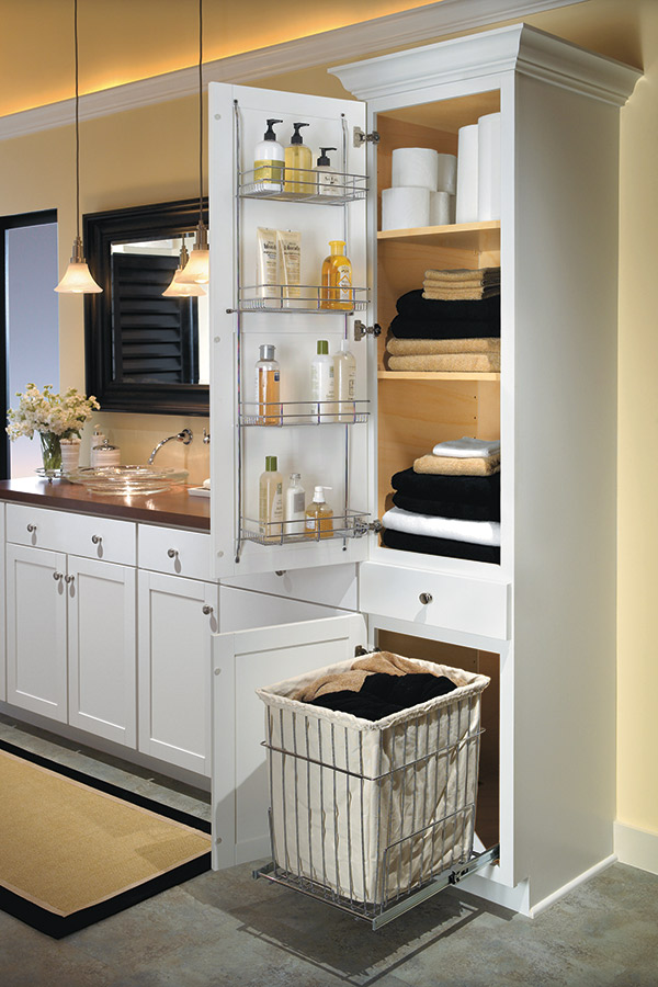Houzz Store Linen Closet With Removable Hamper - Aristokraft