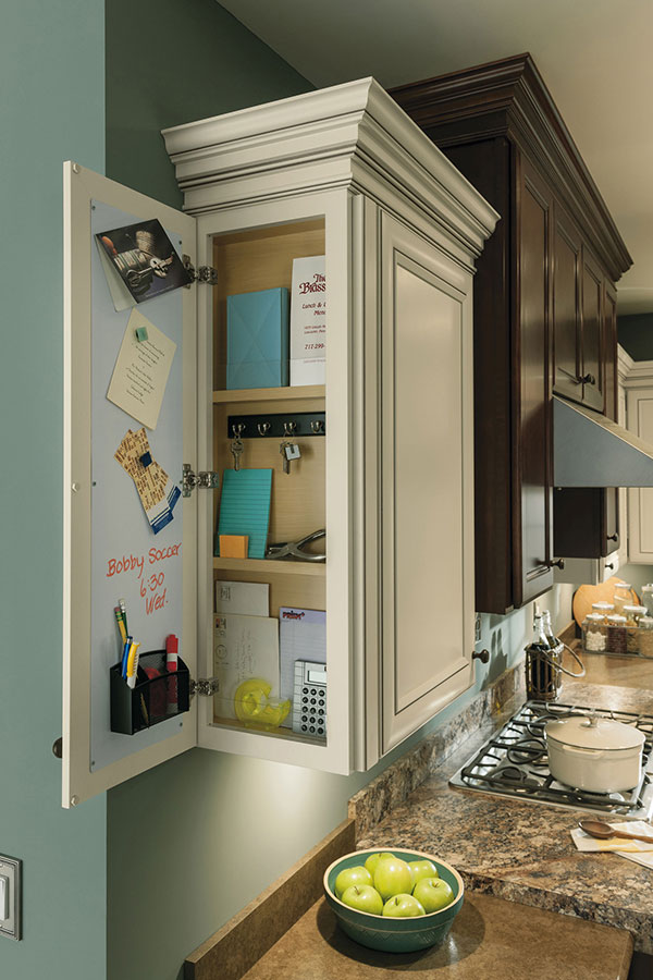 Memo Board Wall Message Center Cabinet - Aristokraft Cabinetry