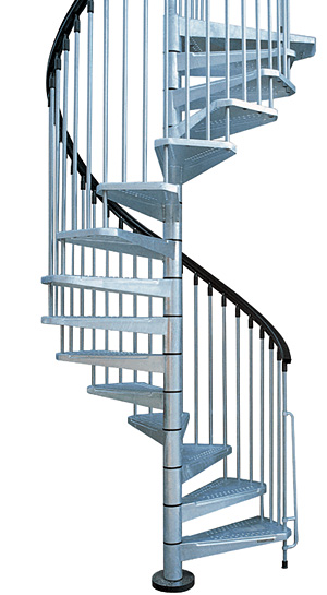 E Stairs Metal Outdoor Spiral Staircase | Exterior Stairs