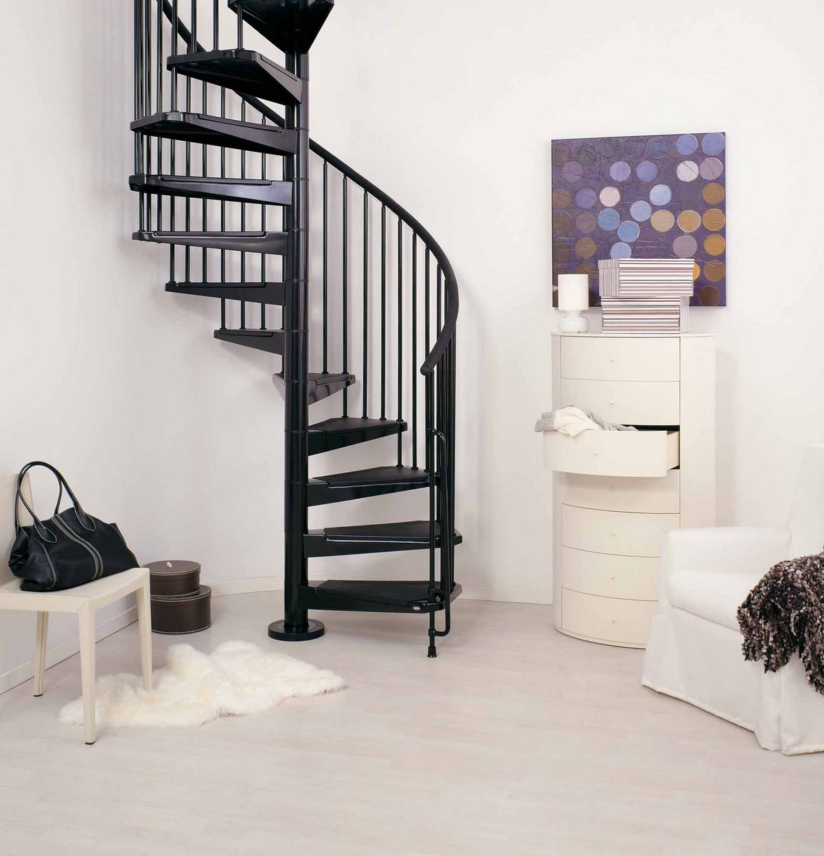 E Stairs Civik Spiral Staircase Kit - Metal, Steel And Wood Spiral