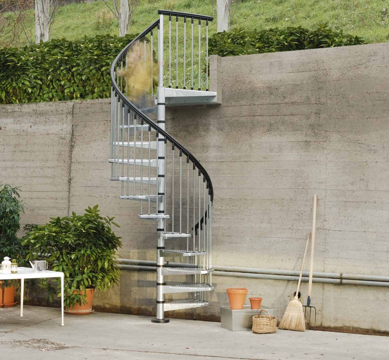 Escalier Metal Ark Metal Outdoor Spiral Staircase Exterior Stairs