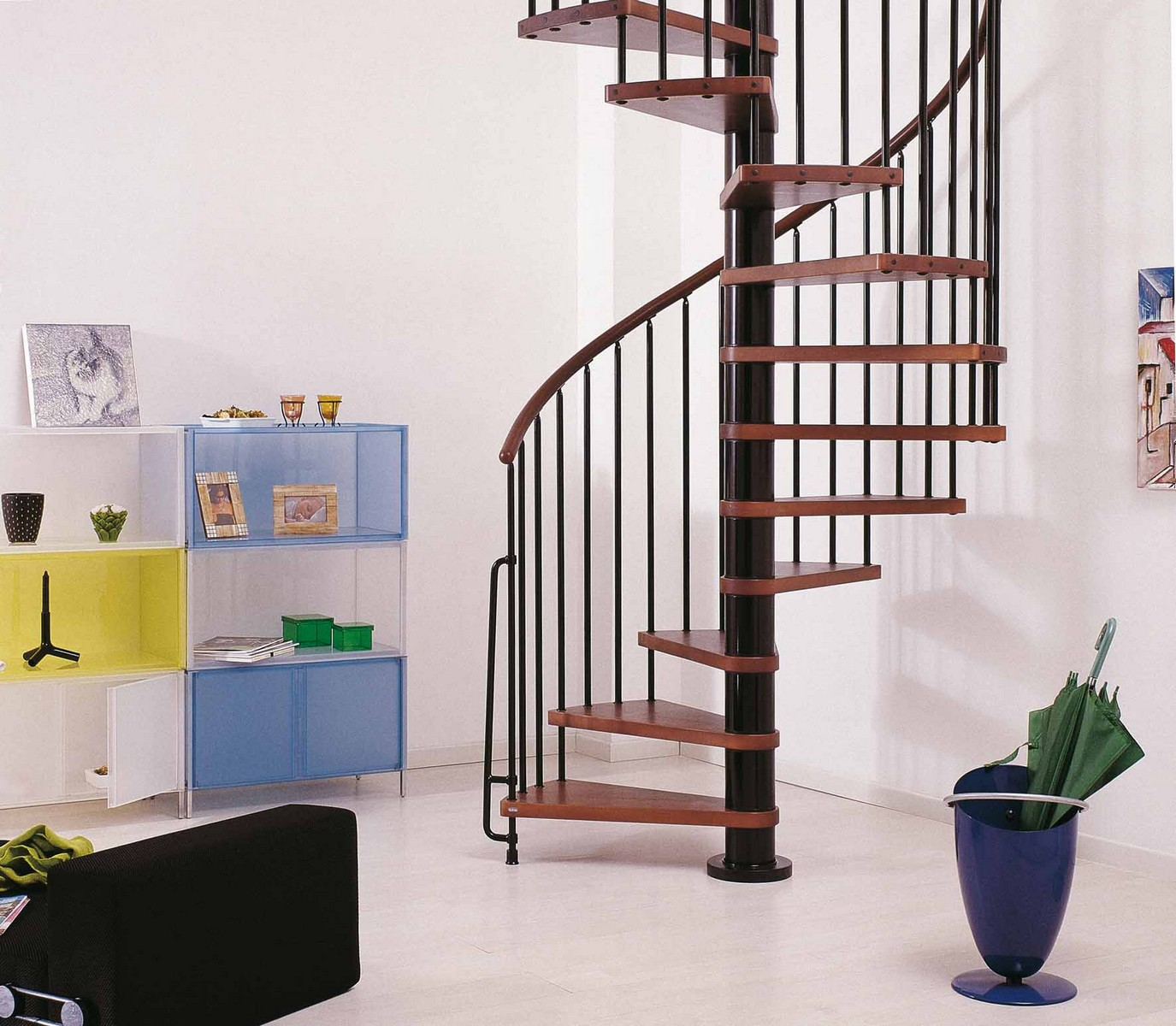 Escalier Metal Ark Phoenix Wood Tread Spiral Staircase Kit Metal Steel And