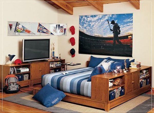 25 ideas de diseño de habitaciones para chicos adolescentes Arkihome - Decoracion De Recamaras Para Jovenes Hombres