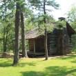 Pioneer cabin at the Cedar Creek Trail trailhead