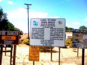 Alameda Open Space signs