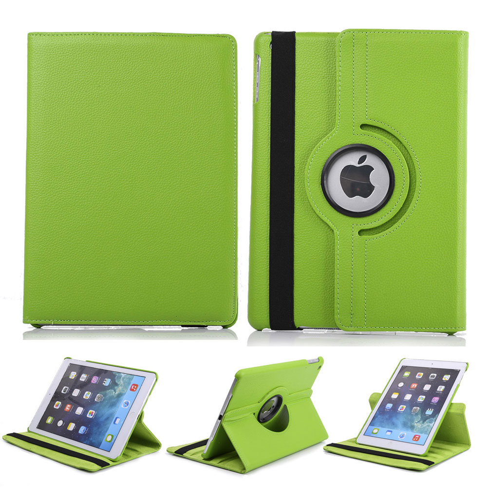 Ipad Mini Cover 360 Rotating New Leather Smart Stand Case Cover For Ipad 2