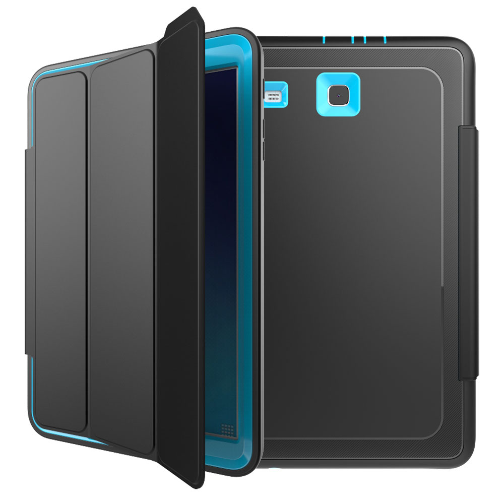 Shockproof Rubber Case Folio Cover Stand For Samsung Galaxy Tab E 9 6 Sm T560 Ebay - Samsung Galaxy Tab E