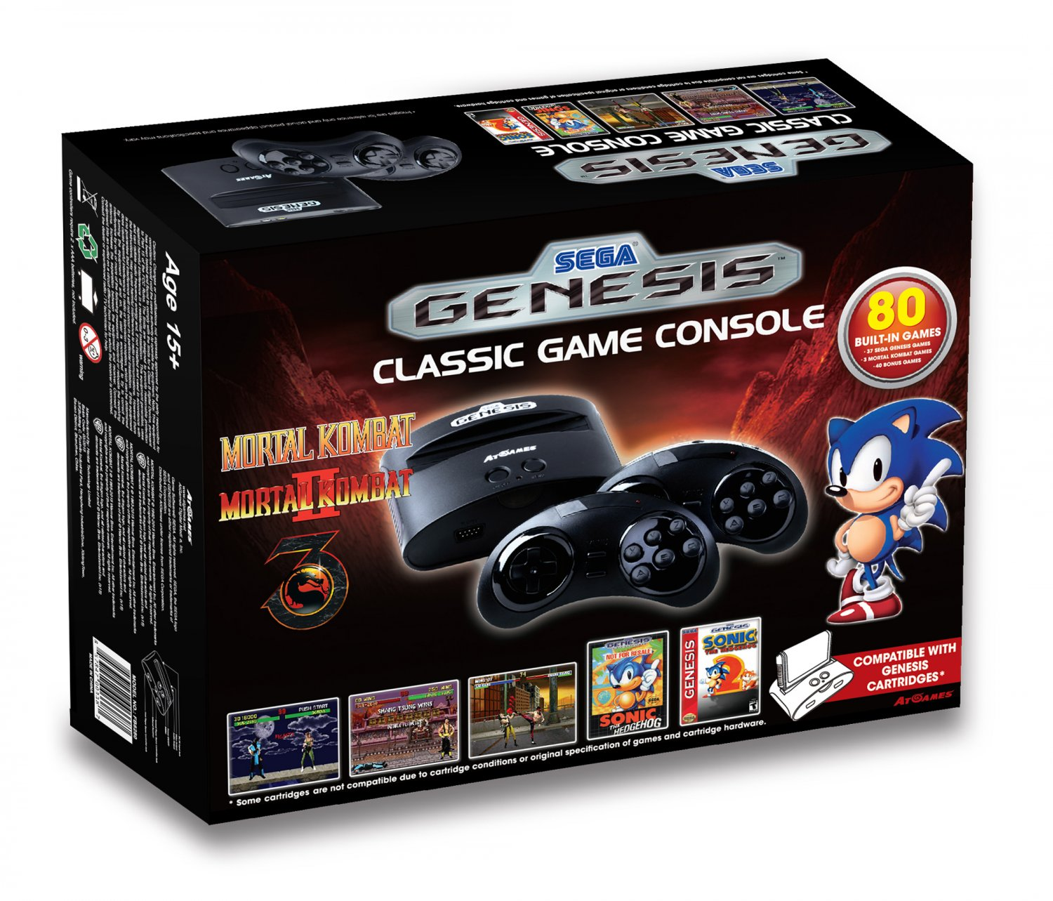 Sega genesis classic game console 2015 the official - Atgames sega genesis classic game console game list ...