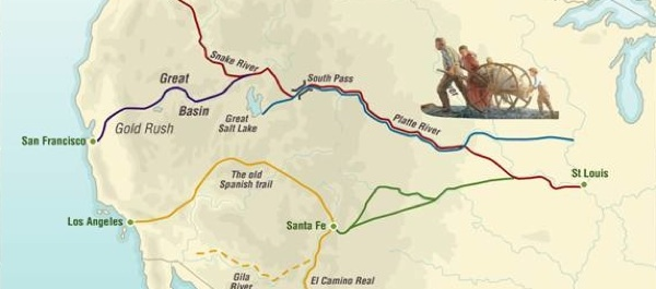 MAP OF THE MONTH \u2013 Trails of the American West Armchair General - animated maps