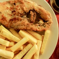 Fried Yam and Fish