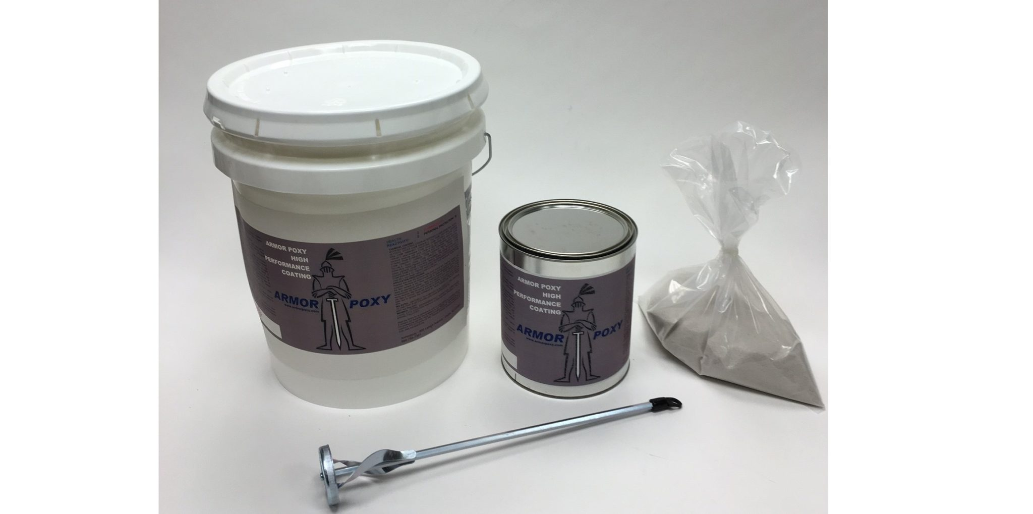 Epoxy Mortar Complete Kit 2 Gal 5 Gal Bulk Size Armorpoxy Coating Products