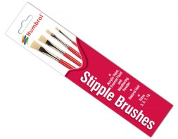 Humrol Stipple Brushes 3,5,7 & 10mm