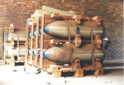 The casings made for the atomic bombs and stored at Advena. (Image ...