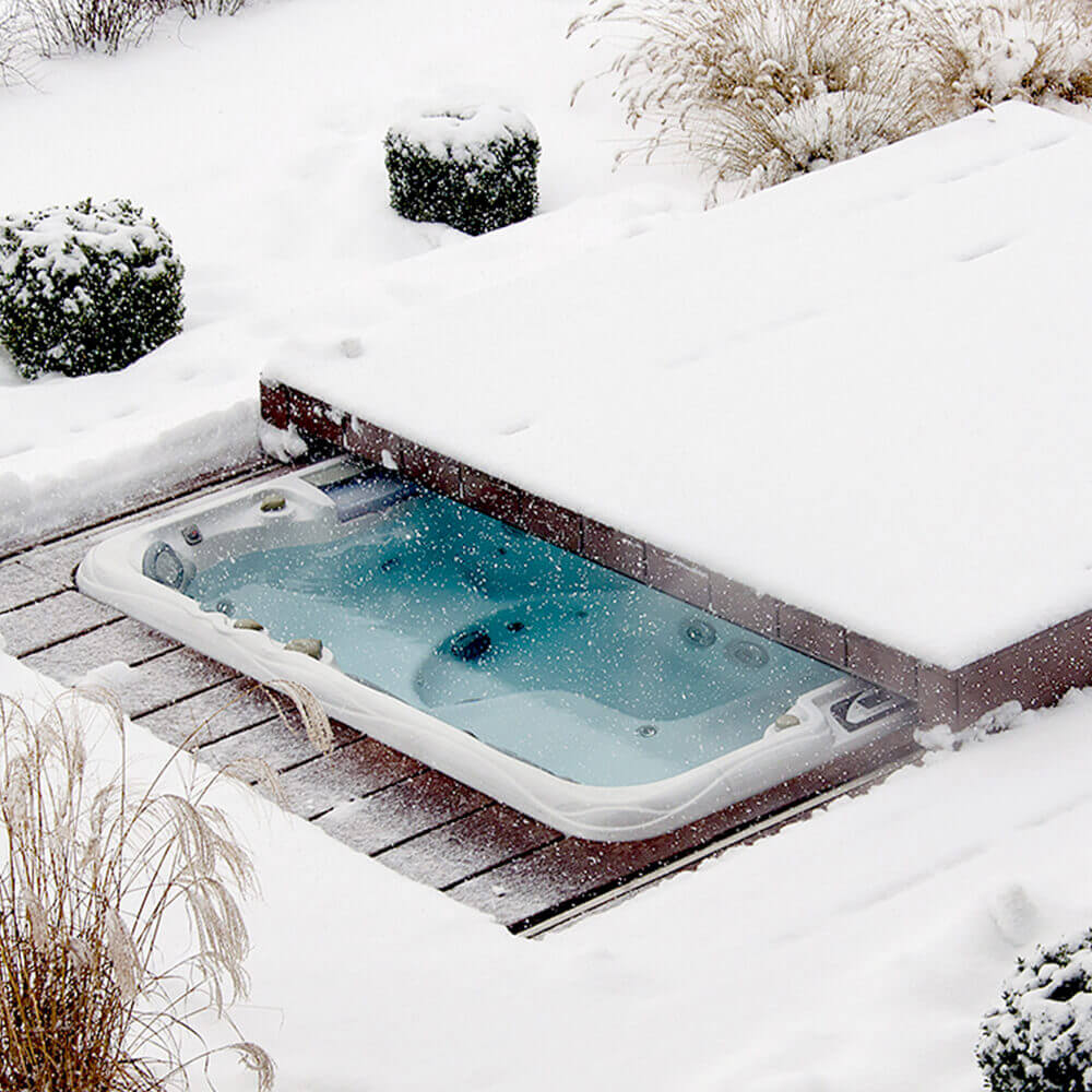 Pool Rund Winterfest Pool Abdeckung Winter