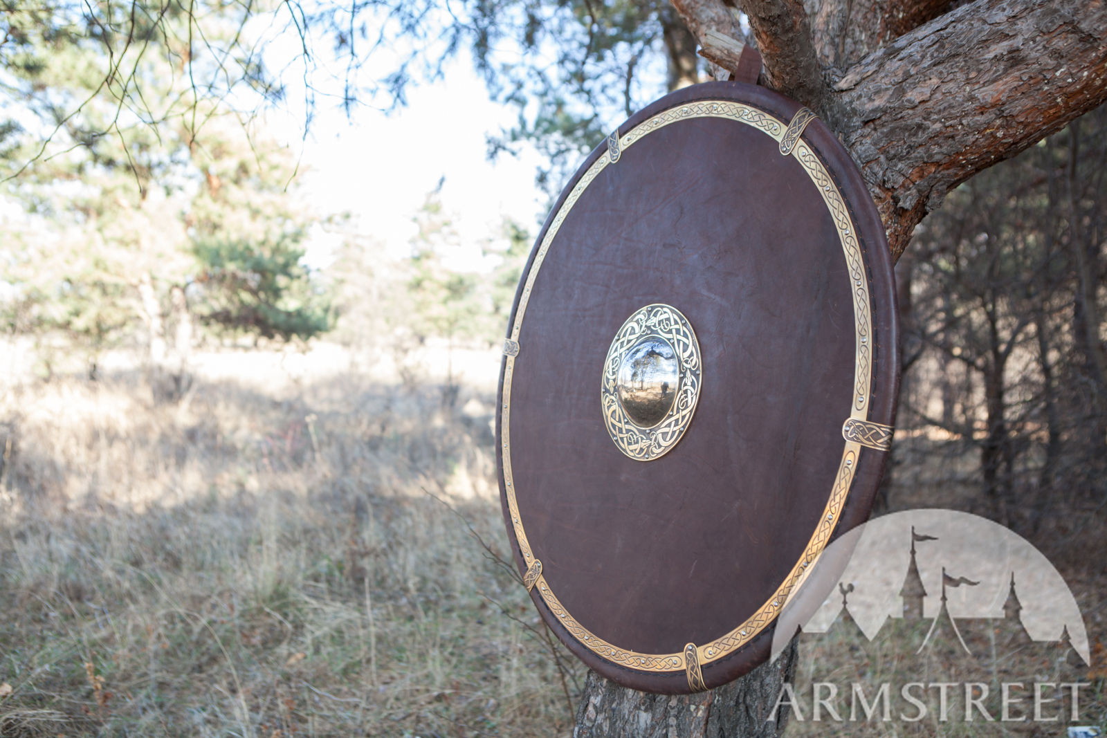Gear Men Leather-covered Viking's Combat Shield. Available In