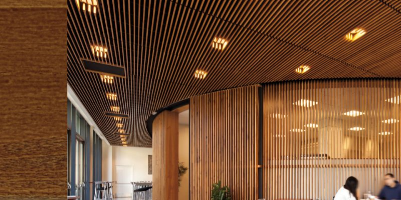 Plafon Fiber Woodworks Grille Panels | Armstrong Ceiling Solutions