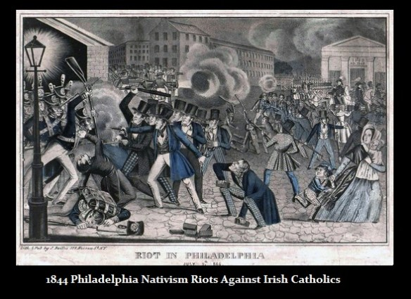 1844 Phila Nativism Riot Againt Irish