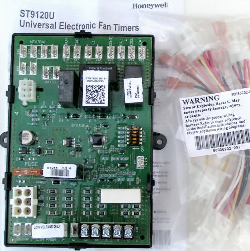 Mobile Home Thermostat Wiring Diagram Honeywell Universal Electronic Furnace Fan Timer Board