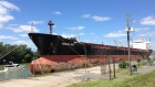 Tanker ship in port