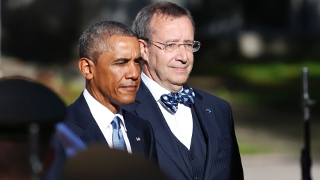 US President Obama and some other guy.
