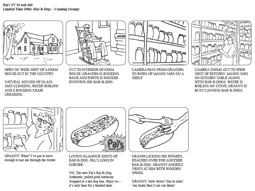 DTC\/ENGL 355 -- Project 1 - commercial storyboards