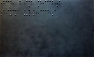 Живопись для слепых. Я не Тимм Ульрихс, 1989, смешанная техника на оргалите, 120х200 см. Частное собрание
