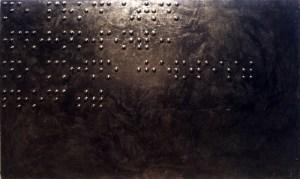 Живопись для слепых (Не продается вдохновенье, но можно живопись продать), 1988, оргалит, пластик, эмаль, 122х200 см. Государственная Третьяковская Галерея