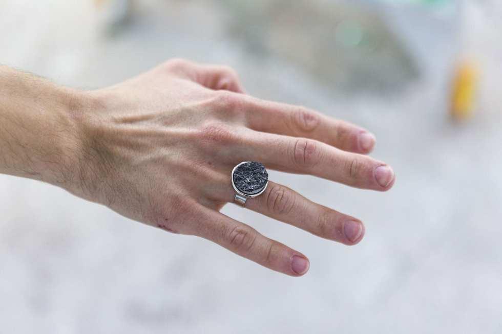 Engagement Rings, 2015. Metal rings, Bluestone
