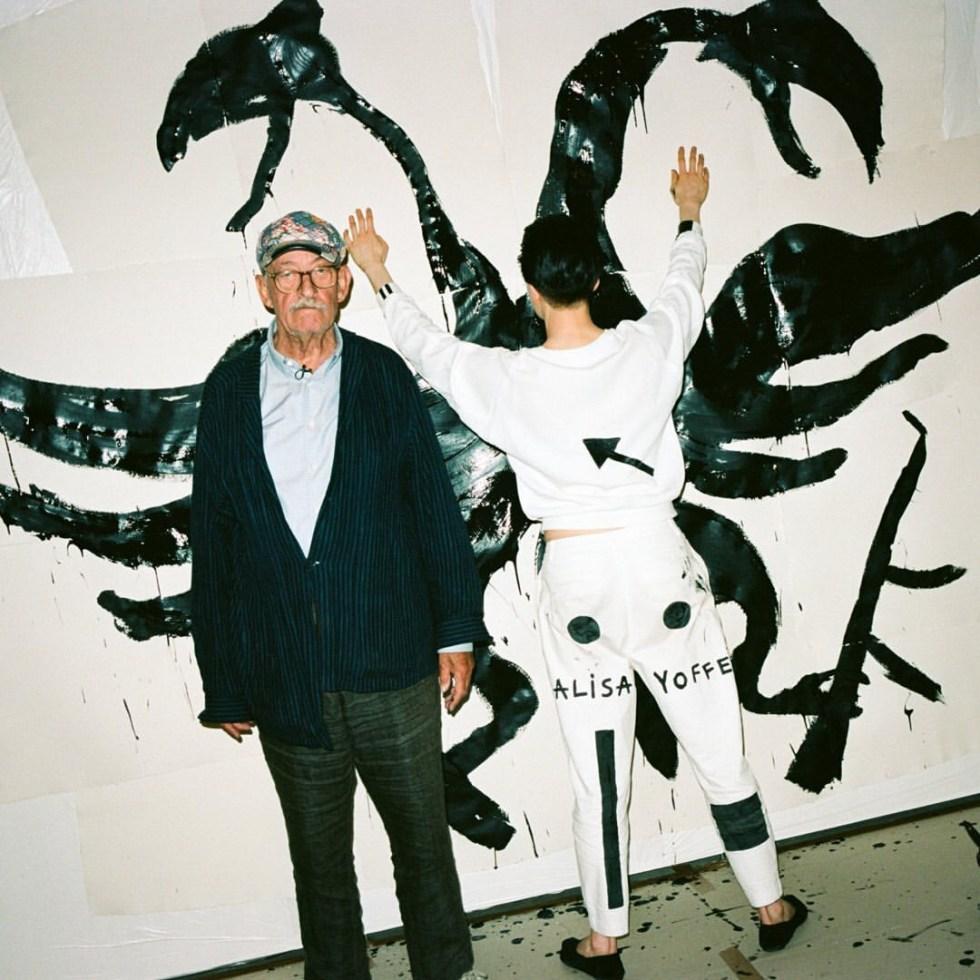 Каспер Кёниг и Алиса Йоффе на выставке «Что такое красота, я не знаю». König Galerie, 2019 // Фото: Benjakon