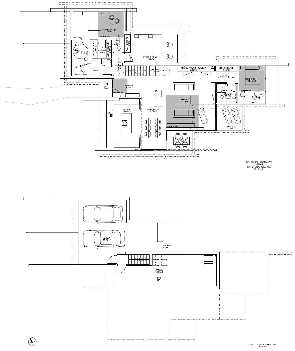 Modificado del proyecto de vivienda unifamiliar cerca del for Casa planta vigo