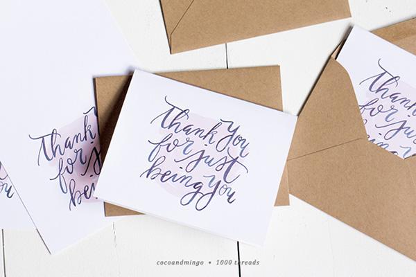 Cartões de agradecimento para imprimir
